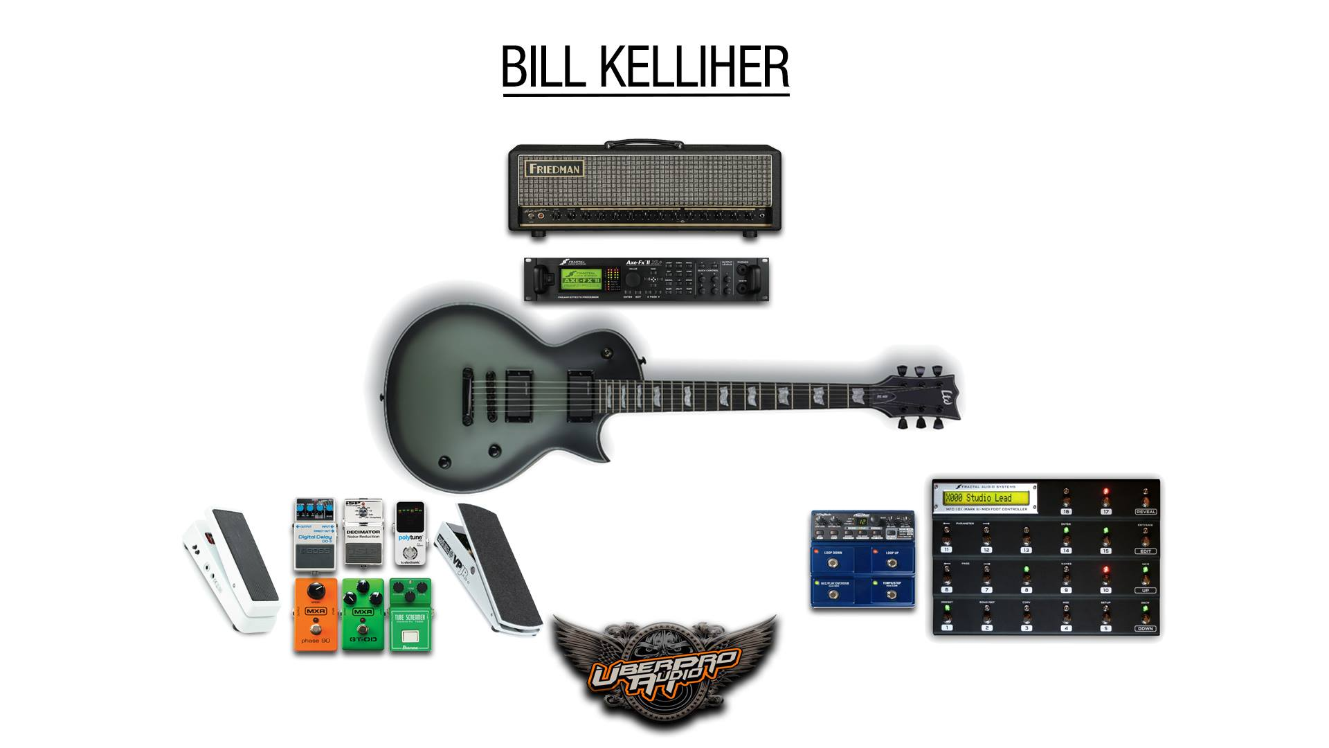 Bill Kelliher Guitar Rig Picture