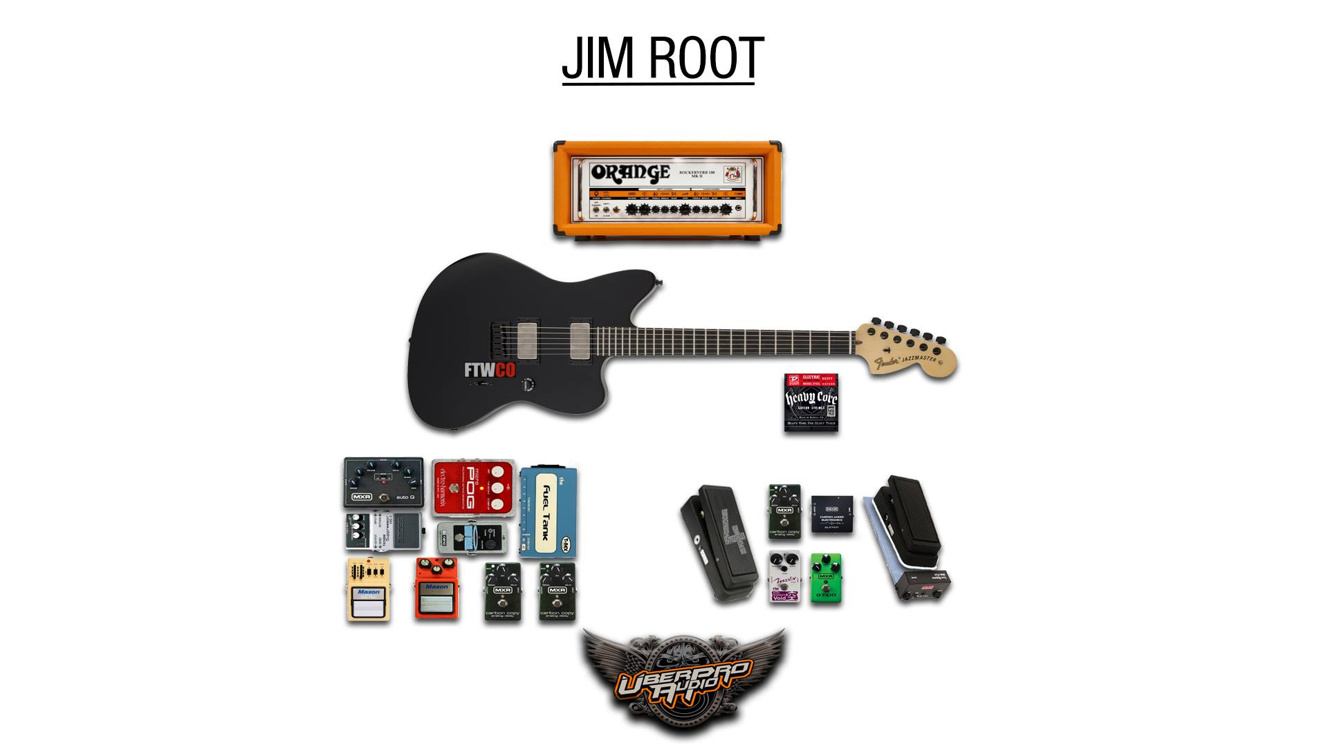Jim Root Guitar Rig Picture