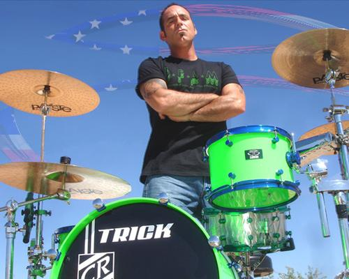 Chip Ritter and his drum kit