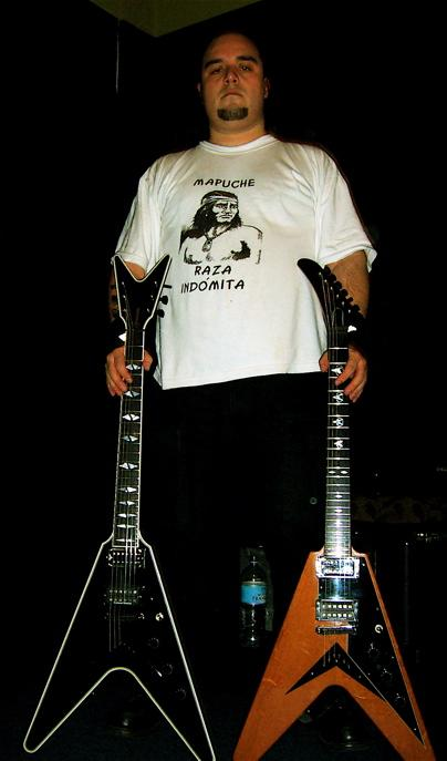Raul with his guitars