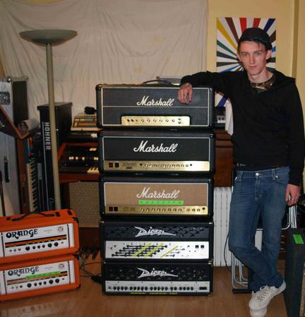Steph with amps