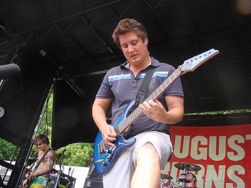 Brent Rambler playing guitar