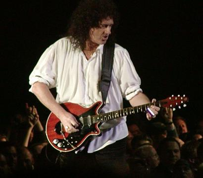 Brian May on guitar