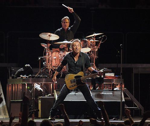 Bruce Springsteen on guitar