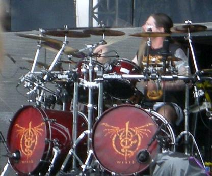 Chris Adler Lamb of God palying drums