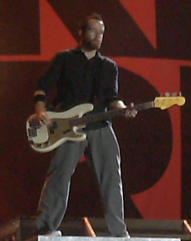 Dave on bass guitar