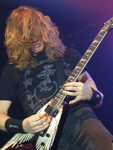 Dave Mustaine on guitar
