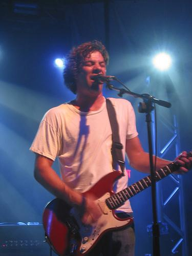 Dean on guitar with Ween