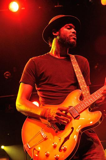Gary Clark Jr. playing electric guitar