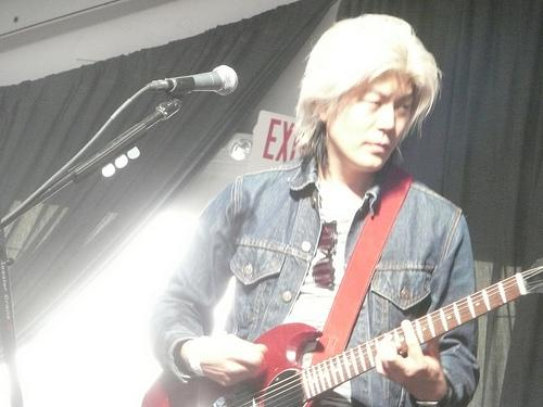 James Iha on guitar