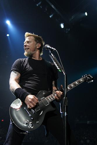 James Hetfield on guitar