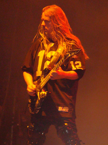 Jeff Hanneman with Slayer