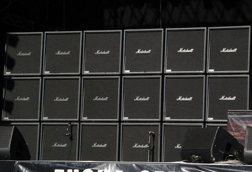 Marshall cabinets at Slayer concert
