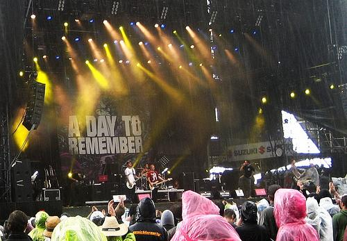 A Day To Remember band live on stage