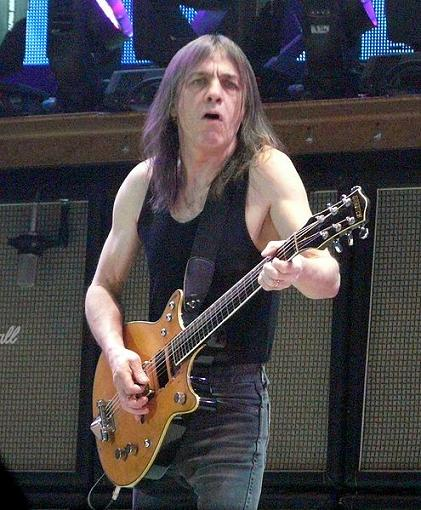 Malcolm Young live on guitar