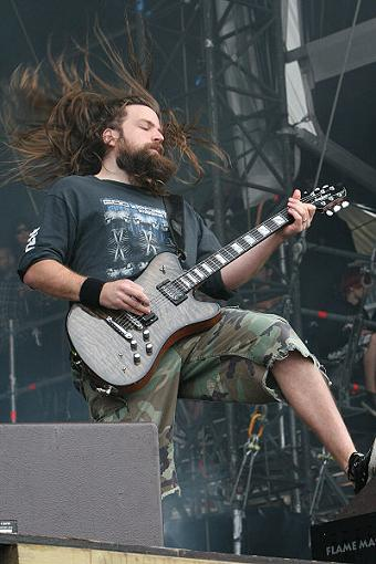 Mark Morton on guitar