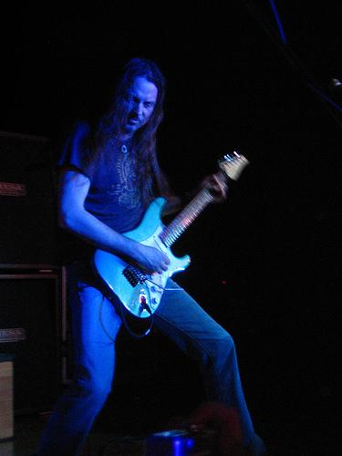 Reb on guitar