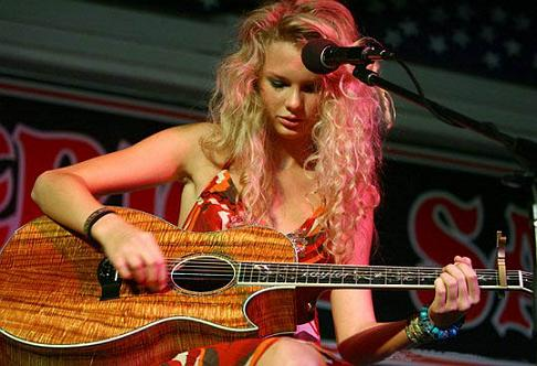 Taylor on guitar