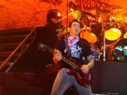 Zacky on guitar